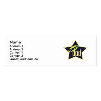 Best Dad Star 2 - Skinny Mini Business Card