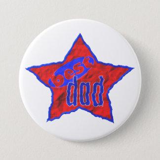 Best Dad Star 3 Inch Round Button