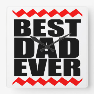 Best Dad Time Square Wall Clock