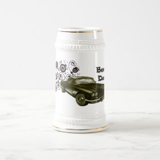 Best Dad Vintage Classic Car Art Gifts Beer Stein