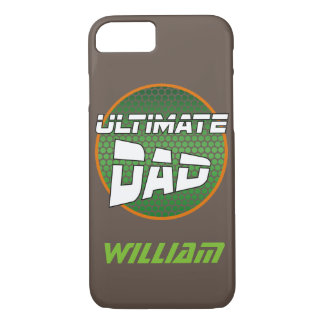 Best Dad with Customizable Name Green and Orange iPhone 8/7 Case