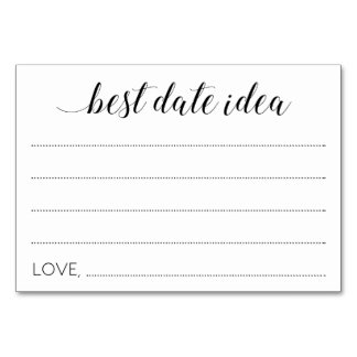 Best Date Idea Wedding Cards - Alejandra Table Cards