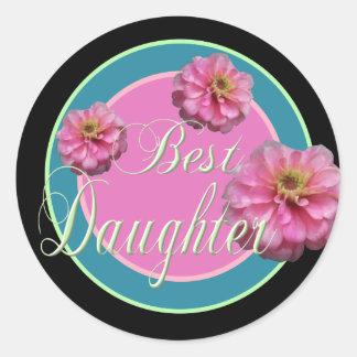 Best Daughter Classic Round Sticker