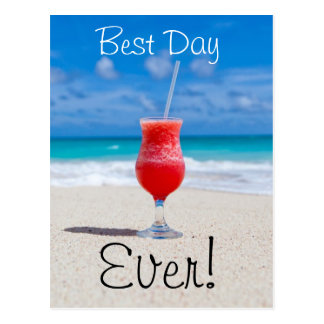 Best Day Beach Postcard
