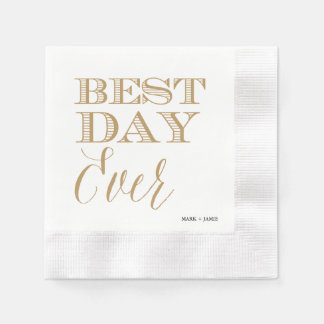 BEST DAY EVER cocktail napkin Paper Napkin