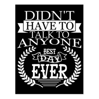Best Day Ever Introverts Postcard