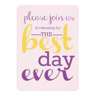 Best Day Ever Rehearsal Invite Marigold/Plumeria