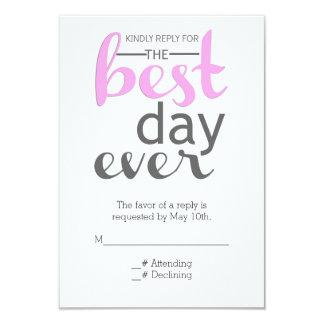Best Day Ever RSVP Card
