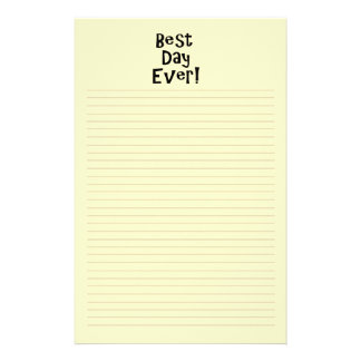 Best Day Ever! Stationery Design