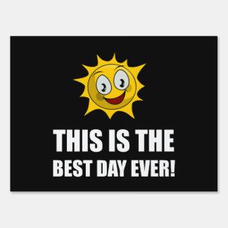 Best Day Ever Sunshine Sign