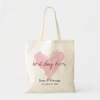 Best Day Ever Wedding Welcome Gift Tote Bag