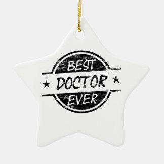 Best Doctor Ever Black Ceramic Ornament