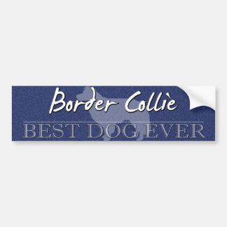 Best Dog Border Collie Bumper Sticker