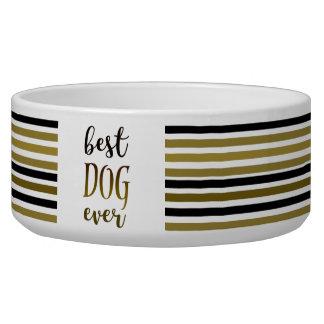 Best Dog Ever Golden Black Stripes Trendy Chic