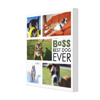 Best Dog Ever Photo Collage Canvas