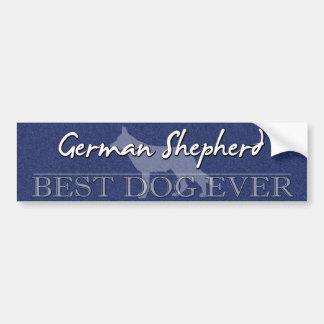 Best Dog German Shepherd Bumper Sticker
