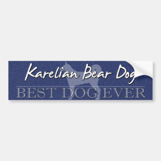 Best Dog Karelian Bear Dog Bumper Sticker