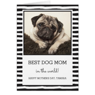 Best Dog Mom | Black | Photo Mother's Day Card