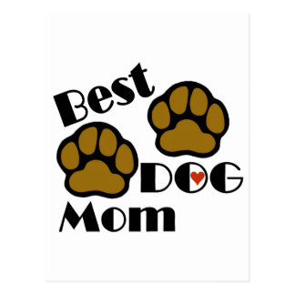 Best Dog Mom Card and Post Card with Dog Paws