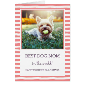 Best Dog Mom | Coral | Photo Mother's Day Card