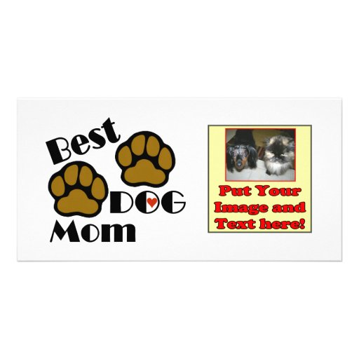 Best Dog Mom Dog Lover Gifts Customized Photo Card