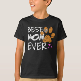 Best dog mom ever paws tshirt