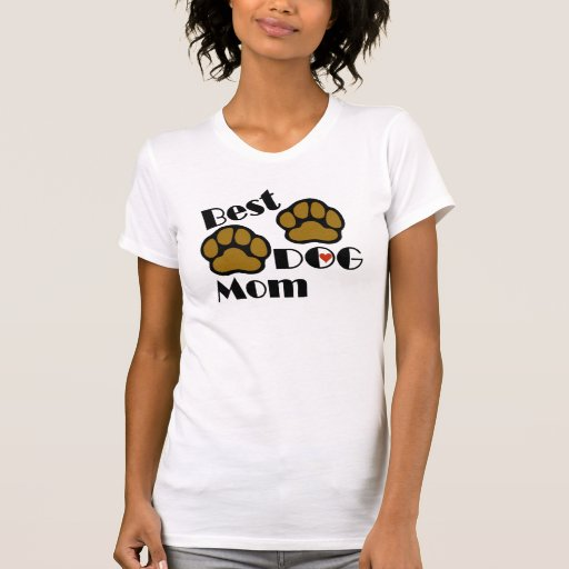 Best Dog Mom Shirt with Dog Paws