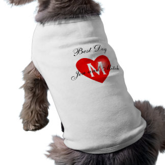 Best Dog Monogram Names Wedding Dog Shirt