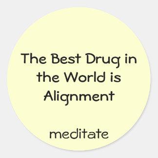 best drug is alignment round sticker