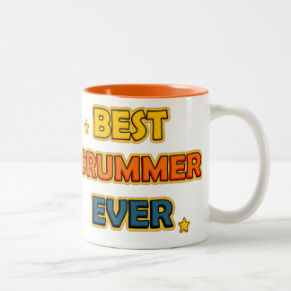 Best drummer ever Two-Tone coffee mug