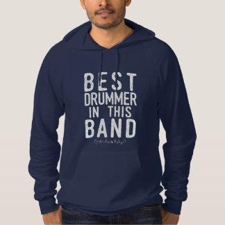 Best Drummer (probably) (wht) Hoodie