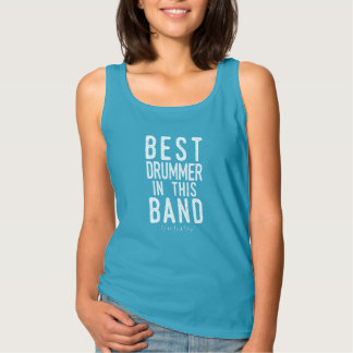 Best Drummer (probably) (wht) Tank Top