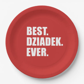Best Dziadek Ever Polish Grandfather Party Paper Plate