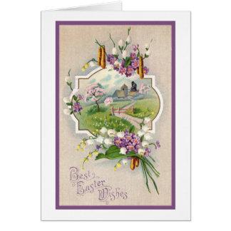 Best Easter Wishes Vintage Card
