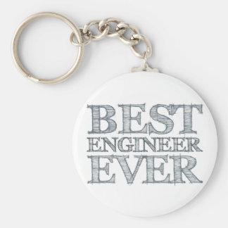 Best Engineer Ever Basic Round Button Keychain