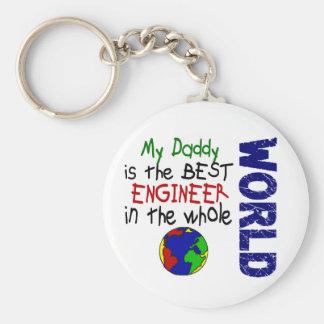 Best Engineer In World 2 (Daddy) Basic Round Button Keychain