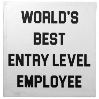 Best Entry Level Employee Napkin