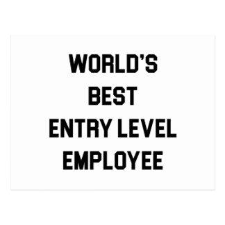 Best Entry Level Employee Postcard