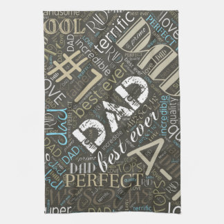 Best Ever Dad Word Cloud ID263 Kitchen Towel