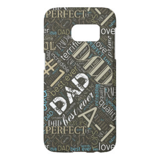 Best Ever Dad Word Cloud ID263 Samsung Galaxy S7 Case