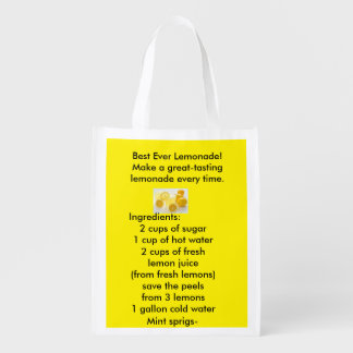 Best Ever Lemonade-Recyclable bags Market Tote