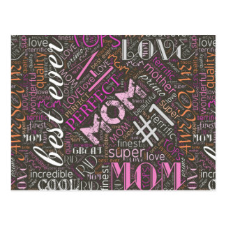 Best Ever Mom Word Cloud ID262 Postcard