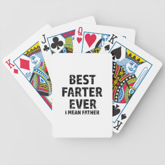 Best Farter or Father in the World Bicycle Playing Cards