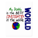 Best Firefighter In World 2 (Daddy) Post Card