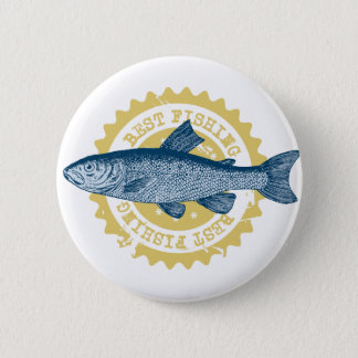 """Best fishing"" trout fishing logo, 2 Inch Round Button"