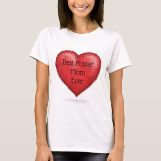 Best Foster Mom Ever Hearts Adoption Gift T-Shirt