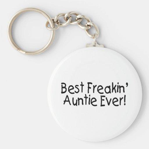 Best Freakin Auntie Ever 2 Basic Round Button Keychain