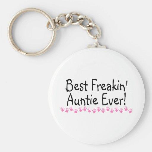 Best Freakin Auntie Every Keychains