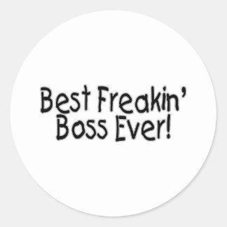 Best Freakin Boss Ever Round Sticker