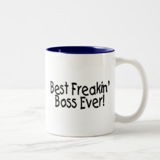 Best Freakin Boss Ever Two-Tone Coffee Mug